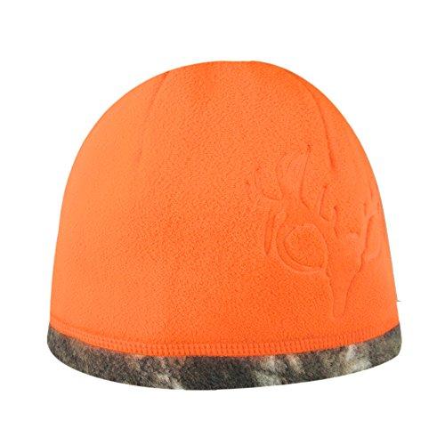 HOT SHOT Kids Reversible Fleece Beanie, Realtree Xtra/Blaze Orange, One Size (4-7)