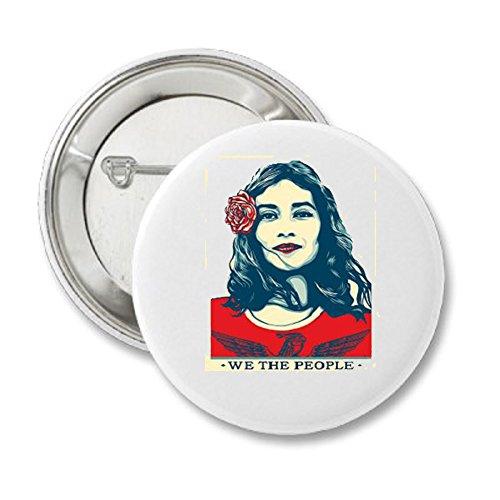 We The People Shepard Fairey Latina Woman 2 1/4 inch Button save DACA