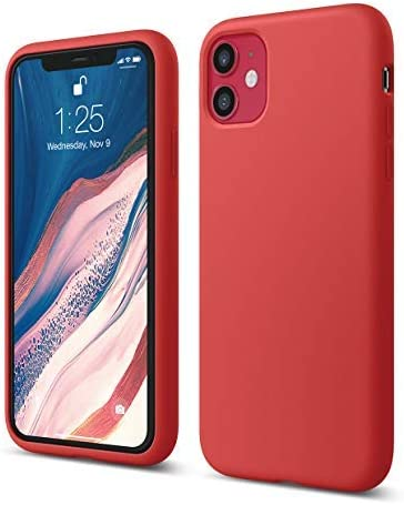 Elago Iphone 11 Silicone Case Red Premium Liquid Silicone Raised Lip Screen Camera Protection 3 Layer Structure Soft Microfiber Lining Full Body Protection Flexible Amazon Ca Cell Phones Accessories