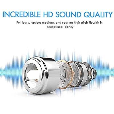 True Wireless Earbuds - Headphone Bluetooh 5.0 in Ear IPX5 Waterproof Sweatproof Noise Cancelling - 15 Hour Battery Wireless Earphones with Mic for iPhone iPad Samsung Huawei Smartphones