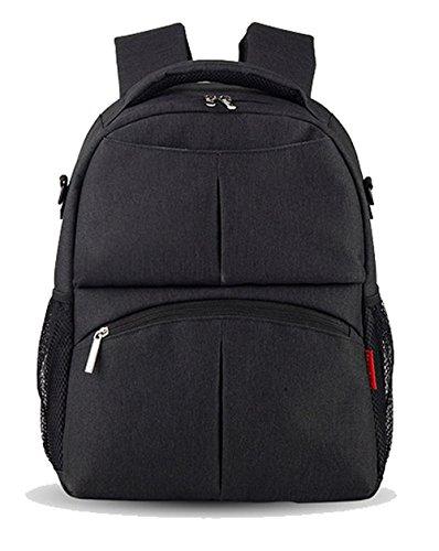 Price comparison product image Diaper Bag Backpack Large Capacity Backpack Travel Backpack 10016 (black)