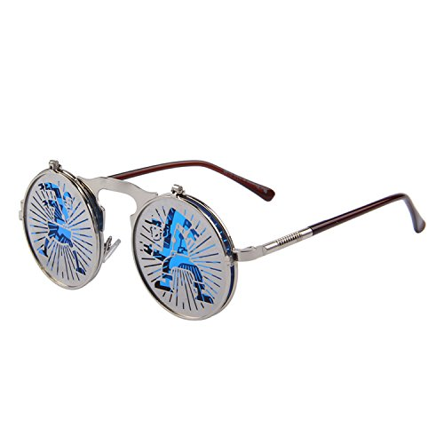 Sunglasses punk Gothic vintage clamshell Gafas de sol clamshell personalidad Gafas metal punk Sol ()