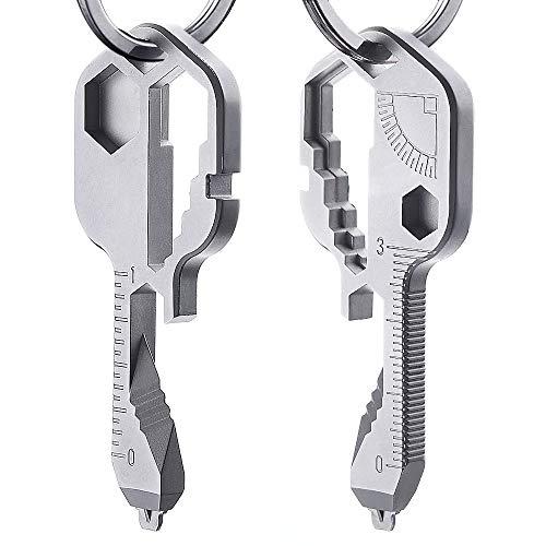 24-in-1 Keychain Multi-function Portable Key Tool Versatile Outdoor Camping Mini Bottle Tool Stainless Steel Screwdriver Bottle Opener