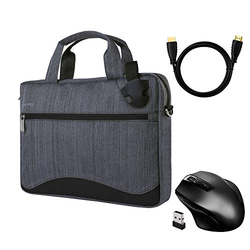 17.3 Inch Laptop Briefcase Handbag with Extra Wireless Mouse and HDMI Cable for Acer Aspire V17 Nitro, Alienware 17 R5, Asus ROG Chimera, Dell Inspiron 17, HP Omen 17, Lenovo Legion Y740, MSI GT75