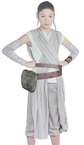 Hideaway The Force Awakens Girl's Rey Costume [ Size : 4T-6,7-9,10-12 ] Star Wars Cosplay
