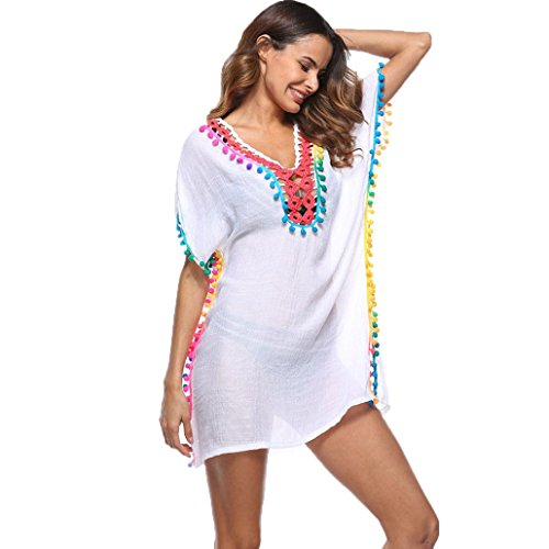 Cover Halter Cloth Terry (Convinced Women Swimsuit Cover Up Sunscreen Shirt,Bikini, Cover Up For Swimwear Women Plus Size (White))