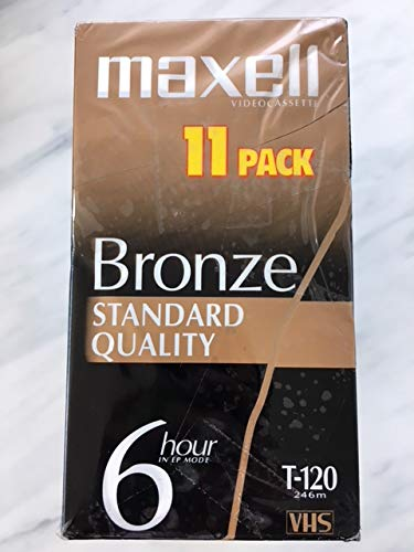 Maxell Bronze T-120 Standard Quality - 11 pack. by Maxell