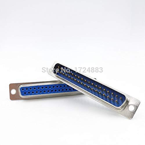 (Davitu Connectors - DB37 core serial data Parallel Port plug 2 row 37pin female Male port socket adapter D SUB - (Color: Silver, Insert Type: Female Insert))