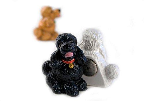 Poodle Black Handmade Fridge Magnet (3cm x 5cm)