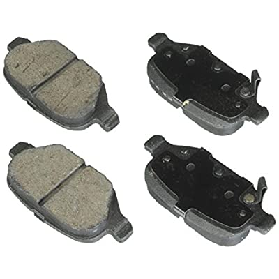 Bosch BE1569H Blue Disc Brake Pad Set with Hardware for 2012-15 Fiat 500 Vehicles - REAR: Automotive