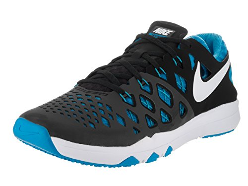 (Nike Men's Train Speed 4 Training Shoe Black/Blue Glow/White Size 10 M US)