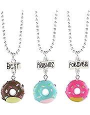 Oaonnea 3 PCS Best Friends Forever Necklace Set