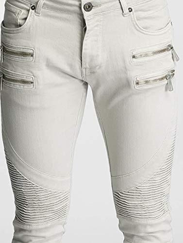 Gris Hombres Savage Ajustado Vaqueros Jeans 2Y qRY1xv6x