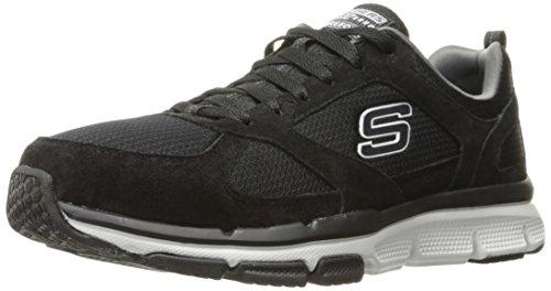 Skechers Sport Men's Optimizer Oxford,Black/White,11 4E US Skechers Suede Oxfords