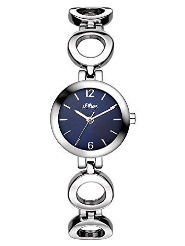 s.Oliver Damen-Armbanduhr Analog Quarz SO-3015-MQ
