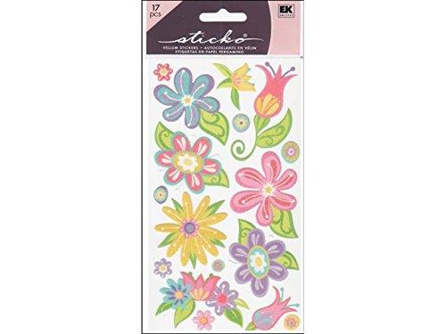 Small Flower Brads (Sticko Sticko Classic Sticker, Small Fanciful Flowers)