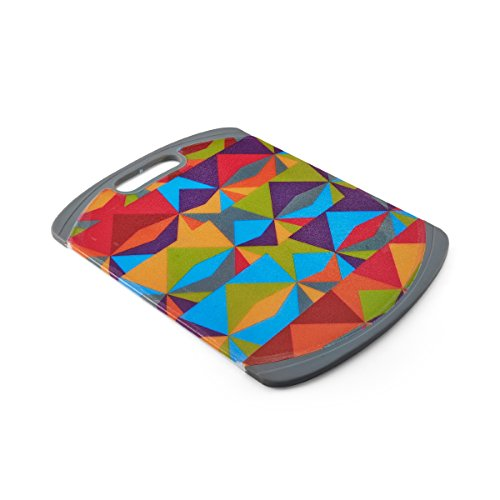 Modern Triangles Poly Cutting Board, 11