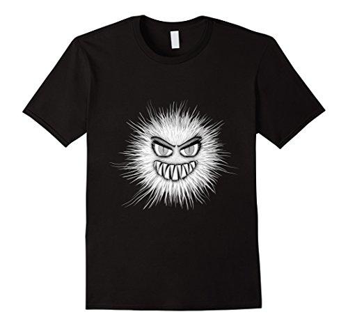 Mens Halloween Scary Monster Face T-shirt Halloween Demon Tee 2XL Black