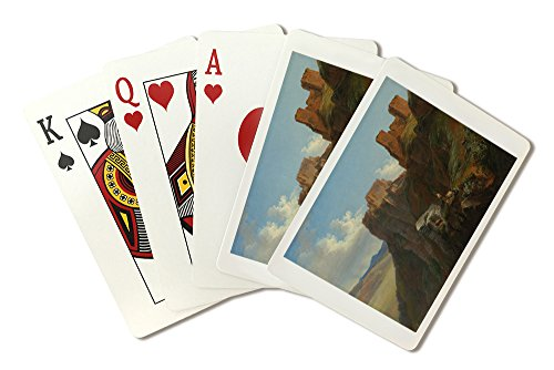 View of the Castello di San Giuliano - Masterpiece Classic - Artist: Sarazin de Belmont c. 1824 (Playing Card Deck - 52 Card Poker Size with Jokers)