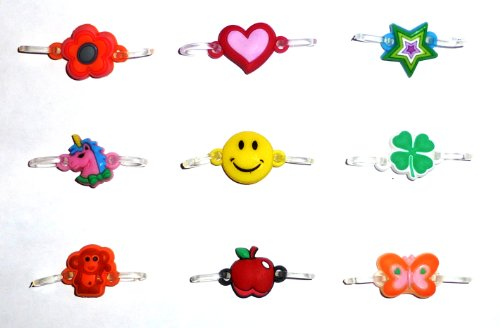 Rainbow Loom Charms (Pack of 9 Charms) SALE 60% OFF - Limited Quantities Available - Best Selling Charms - Prime Shipping - Thousands of Satisfied Customers - 100% Satisfaction Money Back Guarantee