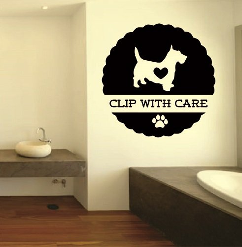 - Wall Vinyl Decal Home Decor Art Sticker Pet Grooming Sign Dogs Pet Shop Room Removable Stylish Mural Unique Design