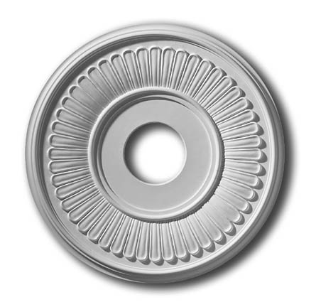 16 Inch Hampton Ceiling Medallion #270-PL Primed White Polyurethane ()