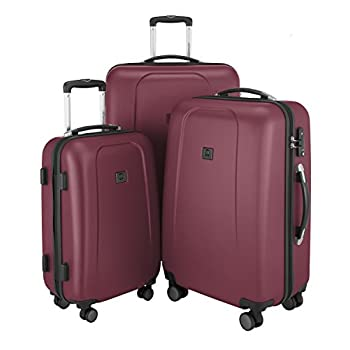 Image of Luggage HAUPTSTADTKOFFER - Wedding - Hand luggage Carry on luggage Hardside Hard Shell suitcase Trolley, approved for baggage regulations of almost every Airline, TSA, 55 cm, 42 Lite, Brown
