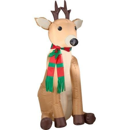 Gemmy Inflateables Holiday G08 36836 Air Blown Outdoor Reindeer Decor (Air Blown Inflatables)