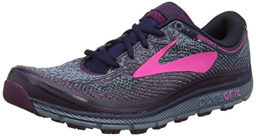 Brooks PureGrit 6, Zapatillas de Trail Running Para Mujer Multicolor (Navyplumpink 1b418)