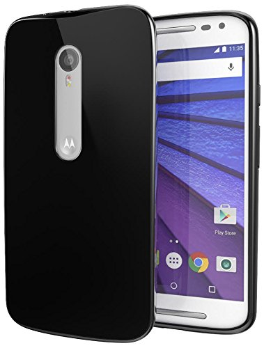 Moto X Pure Edition (Moto X Style) Case, Cimo [Grip] Premium Slim Fit Flexible TPU Cover for Motorola Moto X Style / Pure Edition - Black