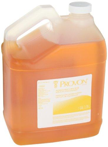 PROVON Antimicrobial Lotion Soap with 0.3% PCMX, Citrus Clean Fragrance, 1 Gallon Lotion Soap Pour Bottle (Case of 4) - 4216-04 by Provon (Image #1)