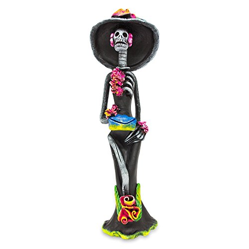 NOVICA 243729 Catrina The Seductress' Ceramic Sculpture