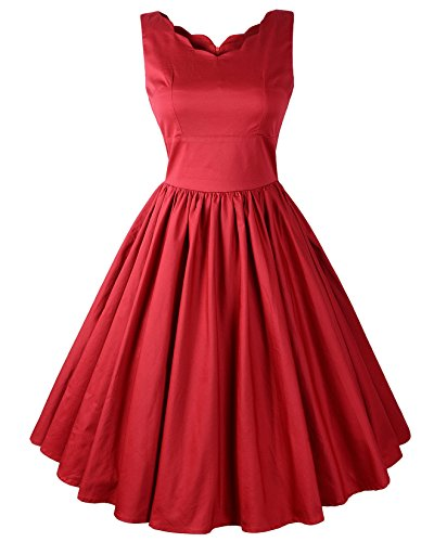llop Brenda Swing Dress (US16, Red) (Brenda Swing Dress)
