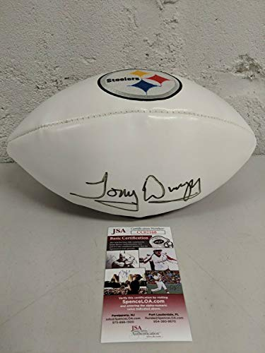 - Tony Dungy Autographed Signed Auto Steelers Commemorative Football JSA Cert