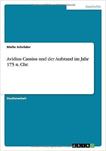 Book Avidius Cassius und der Aufstand im Jahr 175 n. Chr.