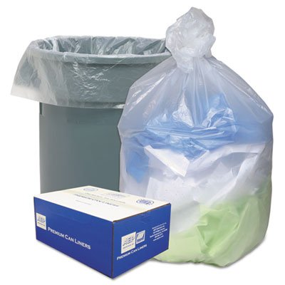 ~:~ WEBSTER INDUSTRIES ~:~ Ultra Plus Recycled Liners, 33 gal, 11 microns, 40 x 33, 25 rolls of 500 bgs/ctn