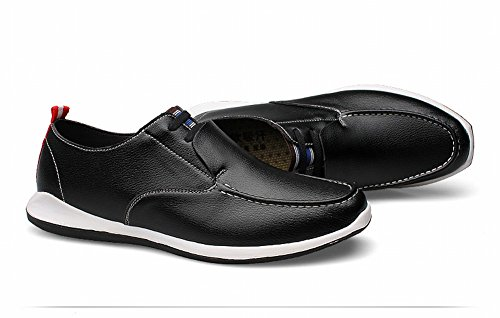 Charm Foot Mens Comfort Daily Leisure Business Loafer Flats Black 74IBDbw