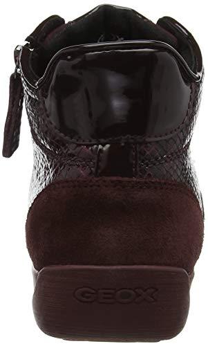 Zapatillas D Altas para Geox C7b7j Dk Myria Bordeaux Burgundy Mujer Rojo C ATOxwBwq
