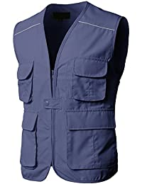 Mens Casual Work Utility Hunting Travels Sports Vest with Multiple Pockets
