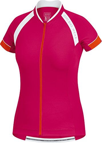 GORE BIKE WEAR Women's Power 3.0 Jersey, Jazzy Pink/Blaze Orange, X-Small Ladies Blaze Mesh Jacket