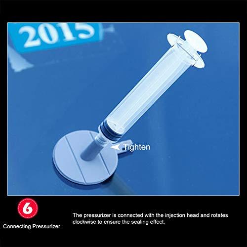 FGHGFCFFGH Kit di Strumenti per la Riparazione del Parabrezza dellauto per Il Parabrezza Scratch Glass Crack Restore Window Screen Lucidatura Car-Styling-Black