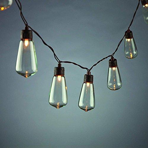 - Everlasting Glow 93774 10 Count Solar ST35 Bulb Light Set, 9.65