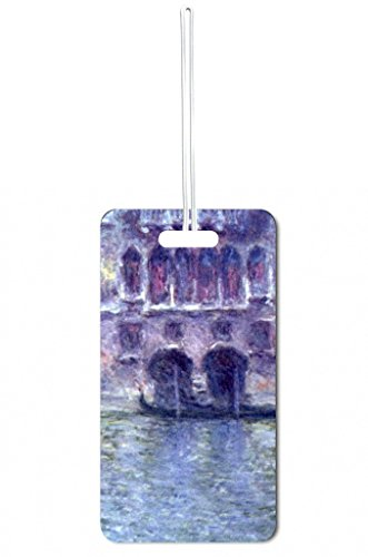 Artist Claude Monet's Palazzo Di Mula Painting Print Design Lea Elliot Set of 5 Luggage Tags with Customizable (5 Piece Set Medium Arch)