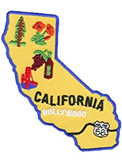 California License plate HOLLYWOOD Iron On Patch Sew on Transfer USA License