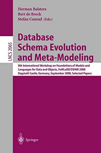 Download Database Schema Evolution and Meta-Modeling: 9th International Workshop on Foundations of Models and Languages for Data and Objects FoMLaDO/DEMM 2000 ... Papers (Lecture Notes in Computer Science) PDF