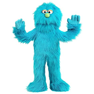 "30"" Blue Monster Puppet, Full Body Ventriloquist Style Puppet: Toys & Games"