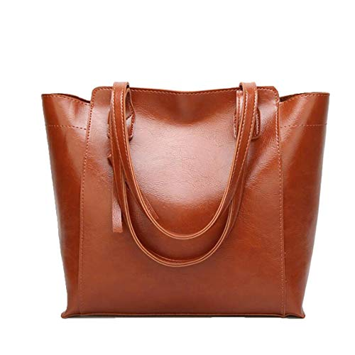 Shoulder Capacity brown Female Bag Blue Ladies Simple PU Messenger F Fashion Box Single Large Handbag G 0qxzngZ
