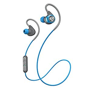 JLab Audio Epic Bluetooth 4.0 Wireless Sports Earbuds with 10 Hour Battery & IPX4 Waterproof Rating - Blue/Graphite