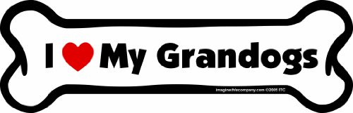 Imagine This Car Magnet-Bone-I Love My Grandogs- 2