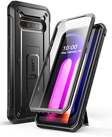 SUPCASE Unicorn Beetle Pro Series Case Designed for LG V60 ThinQ (2020 Release),Full-Body Rugged Holster & Kickstand Case with Built-in Screen Protector (Black)